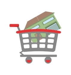 real estate house shop cart vector image