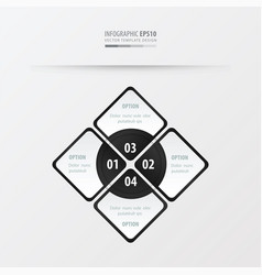 rectangle presentation black and white color vector image