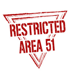 Restricted area 51 grunge rubber stamp vector