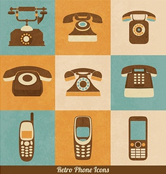 Retro Phone Icons vector