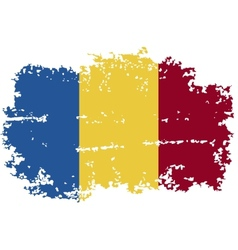 Romanian grunge flag vector image
