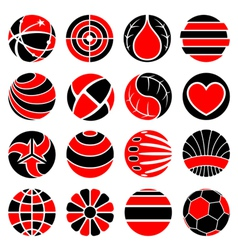 round abstract icons vector image