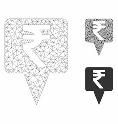 Rupee map pointer mesh 2d model and vector