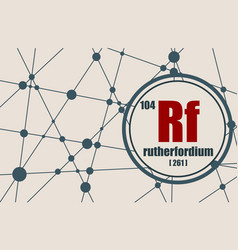 rutherfordium chemical element vector image