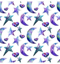 Seamless pattern of Colorful watercolor star and vector image