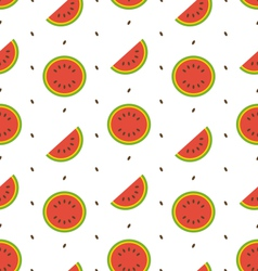 seamless pattern with slices and seeds vector image