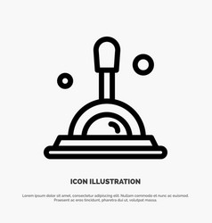 Search magnifying glass deep search line icon vector