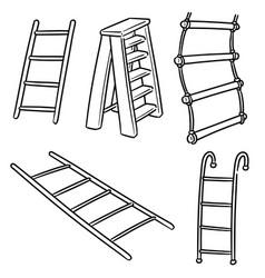 set ladder vector image