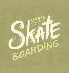 skateboarding label urban design for skater vector image