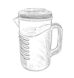 sketch of carafe vector image