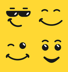 Smiling face emoji vector