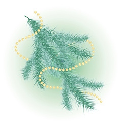 Snow-covered christmas tree vector