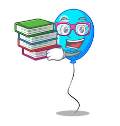 Student with book blue balloon bunch design on vector