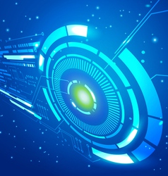 Technology Space Blue Background vector