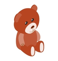 Teddy bear isometric 3d icon vector image