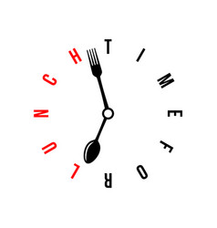 time for lunch conceptual minimalistic vector image