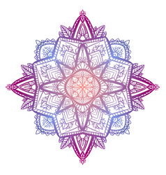 tracery coloring zen mandala the object is vector image