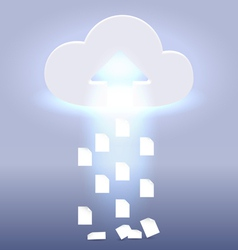 Uploading active cloud process vector image
