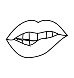 Woman lips comic style vector
