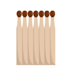 wood matches icon flat style vector image