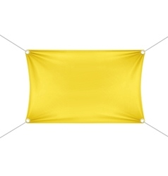 Yellow Blank Empty Horizontal Rectangular Banner vector image