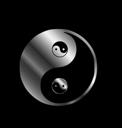 ying yang the symbol of harmony and balance vector image