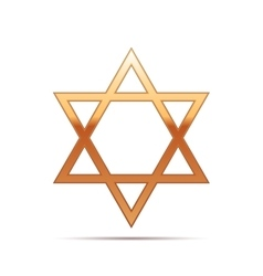 Gold Star of David icon on white background vector image vector image