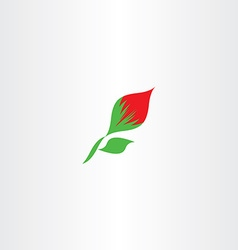 icon flower with leaf vector image