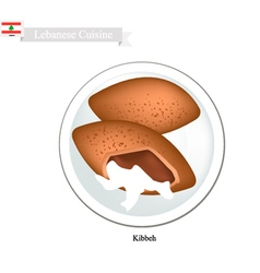 Kibbeh or lebanese meatballs vector