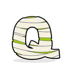 Letter Q Monster zombie Alphabetical icon medical vector image vector image