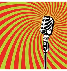 Retro Microphone 2 vector image vector image
