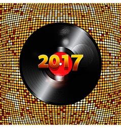Twenty Seventeen golden tiles background and vinyl vector image vector image