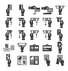 banking icons set vector image vector image
