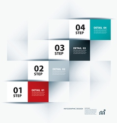 business step paper data and numbers design vector image vector image