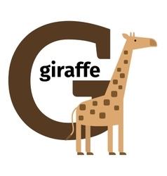 English animals zoo alphabet letter G vector image