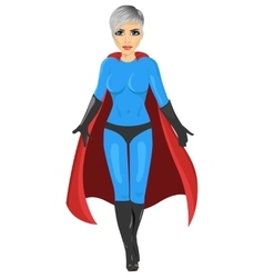 girl in superhero costume walking forward vector image