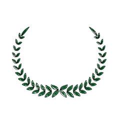 laurel wreath winner sport decoration vector image