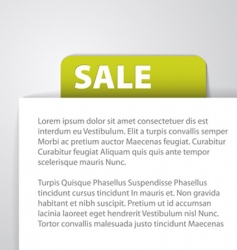 sale tag foreign text vector image