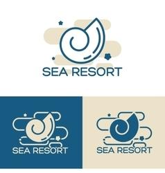 sea shell logo set vector image vector image