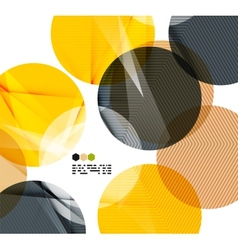 Bright yellow geometric modern design template vector image vector image