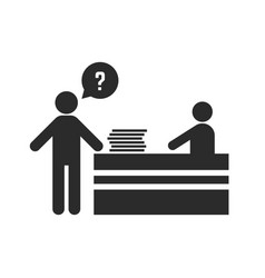 office worker asks for help vector image