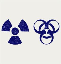 Radioactive and biohazard vector image vector image