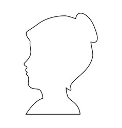 silhouette of woman head icon vector image