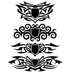 tattoo shields set vector image