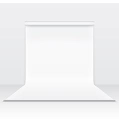 White paper studio backdrop vector image vector image