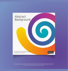 abstract colorful cover template with gradient vector image