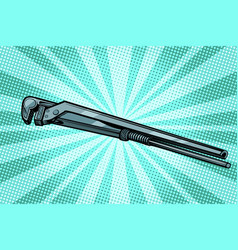 adjustable wrench work tool vector image