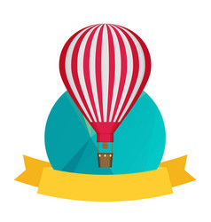 air balloon and banner background vector image