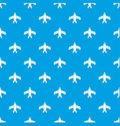 airliner pattern seamless blue vector image