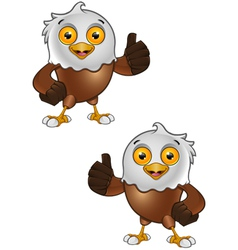 Bald Eagle Character 3 vector image